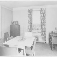 F.W. Hobbs, residence at 34-14 81st St., Jackson Heights, Queens. Dining room, to window I