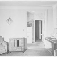 F.W. Hobbs, residence at 34-14 81st St., Jackson Heights, Queens. Living room, to foyer
