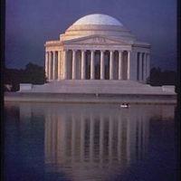 Jefferson Memorial. Exterior of Jefferson Memorial from across Tidal Basin I