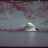 Jefferson Memorial. Exterior of Jefferson Memorial from across Tidal Basin LIV