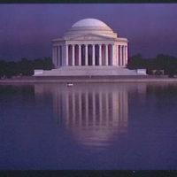 Jefferson Memorial. Exterior of Jefferson Memorial from across Tidal Basin V