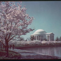 Jefferson Memorial. Exterior of Jefferson Memorial from across Tidal Basin XL