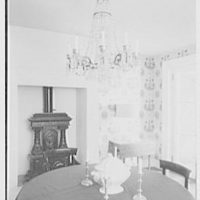 Margaret Sommerfeld, residence at 168 E. 64th St., New York City. Dining room, to fireplace