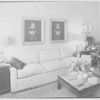 Margaret Sommerfeld, residence at 168 E. 64th St., New York City. Living room sofa