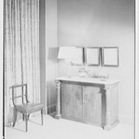 Mary Martin (Mrs. Richard Halliday), residence at 1022 5th Ave., New York City. Living room lamp and intaglios