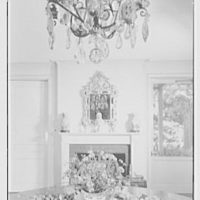 Maynard S. Bird, residence in Greenfield Hill, Fairfield, Connecticut. Dining room, to fireplace