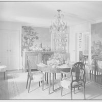 Maynard S. Bird, residence in Greenfield Hill, Fairfield, Connecticut. Dining room, general