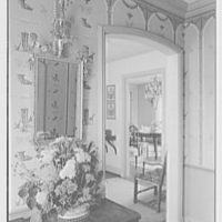 Maynard S. Bird, residence in Greenfield Hill, Fairfield, Connecticut. Hall, to dining room