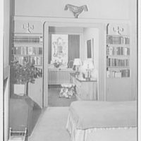 Melvin Rivard, residence at 122 E. 37th St., New York City. Bedroom, to living room