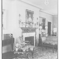 Mr. and Mrs. C. Frederick C. Stout, residence on Glenn Ave., Ardmore, Pennsylvania. Living room fireplace