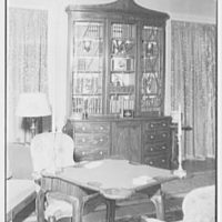 Mr. and Mrs. C. Frederick C. Stout, residence on Glenn Ave., Ardmore, Pennsylvania. Living room secretary