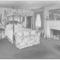 Mr. and Mrs. C. Frederick C. Stout, residence on Glenn Ave., Ardmore, Pennsylvania. Mrs. Stout's bedroom, to bed