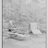 Mr. and Mrs. C. Frederick C. Stout, residence on Glenn Ave., Ardmore, Pennsylvania. Mr. Stout in garden