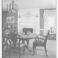 Mr. and Mrs. Richard Rodgers, residence on Black Rock Turnpike, Fairfield, Connecticut. Dining room