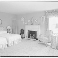 Mr. and Mrs. Richard Rodgers, residence on Black Rock Turnpike, Fairfield, Connecticut. Bedroom