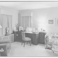 Mr. and Mrs. Richard Rodgers, residence on Black Rock Turnpike, Fairfield, Connecticut. Mr. Rodgers' room