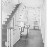 Mrs. C. Russel O'Brien, residence in Harlingen, New Jersey. Stair hall