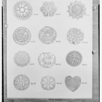 Mrs. J. Hodson, Greenwich, Connecticut. Plastic ornaments II