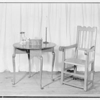 Mrs. Lawrence J. Ullman, business in Tarrytown, New York. Table and chair