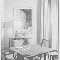 Mrs. Sidney Ross, residence at 784 Park Ave., New York City. Game table