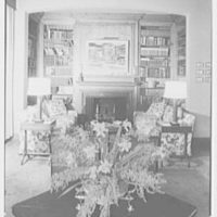 Mrs. Sidney Ross, residence at 784 Park Ave., New York City. Living room, axis to fireplace