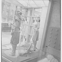 Pat Darling, business at 311 N. Howard St., Baltimore, Maryland. Show window, from inside