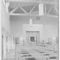 U.S. Naval Hospital Chapel, St. Albans, Long Island, New York. Chapel chancel, Jewish altar