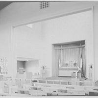 U.S. Naval Hospital Chapel, St. Albans, Long Island, New York. Chapel chancel, Protestant altar