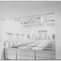 U.S. Naval Hospital Chapel, St. Albans, Long Island, New York. Chapel interior, Catholic altar