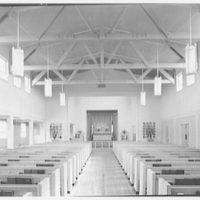 U.S. Naval Hospital Chapel, St. Albans, Long Island, New York. Chapel interior, Protestant altar