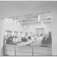 U.S. Naval Hospital Chapel, St. Albans, Long Island, New York. Chapel interior, with Catholic congregation