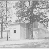 U.S. Naval Hospital Chapel, St. Albans, Long Island, New York. North and east facade