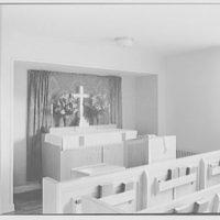U.S. Naval Hospital Chapel, St. Albans, Long Island, New York. Protestant chapel