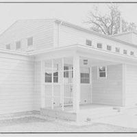 U.S. Naval Hospital Chapel, St. Albans, Long Island, New York. South facade entrance