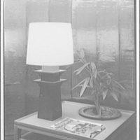 America House, Goodheart furniture store, 2101 K St. Table lamp I