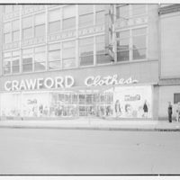 Crawford Clothes, business at 225 Main St., Paterson, New Jersey. General exterior