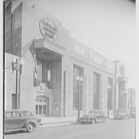 Dollar Savings Bank, Grand Concourse, New York. Exterior, from left