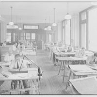 Eggers & Higgins, 71 Water St., New York City. Drafting room, main floor