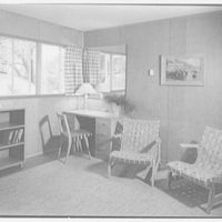 Harmon Homes, Phoenixville, Pennsylvania. Living room, to desk, house II