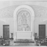 Immaculate Conception Seminary, Huntington, Long Island. Wide view to altar