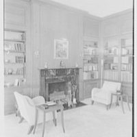 J.G. Herrara, residence in Mill Neck, Long Island. Library I