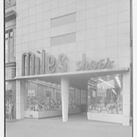 Miles Shoes, business at 216 W. 125th St., New York City. Exterior, vertical