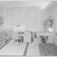 Milton Kaufmann, residence at 336 Central Park West, New York City. Boy's room II