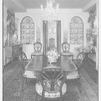 Mrs. Christopher J. Mileham, residence at 350 E. 57th St., New York City. Dining room I