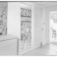 Mrs. Harriet K. Morse, residence in Underhill Center, Vermont. Kitchen shelves