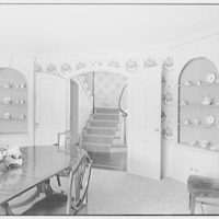 Mrs. H.C. Comly, residence in Round Hill, Greenwich, Connecticut. Dining room