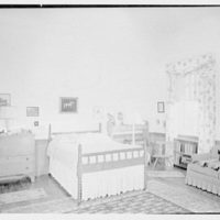 Paul Mellon, residence in Upperville, Virginia. Daughter's room, to bed
