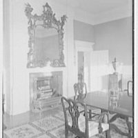 Paul Mellon, residence in Upperville, Virginia. Dining room I