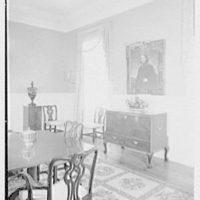 Paul Mellon, residence in Upperville, Virginia. Dining room II