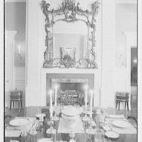 Paul Mellon, residence in Upperville, Virginia. Dining room III